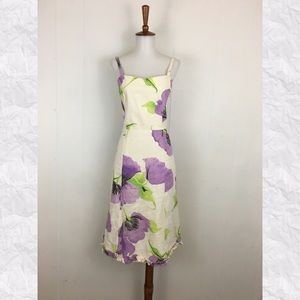 Nanette Lepore Linen Floral Sheath Dress
